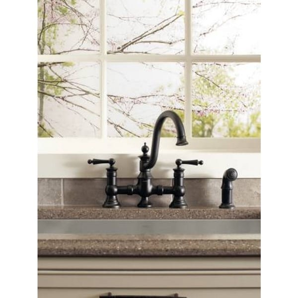 Moen Waterhill S713WR Wrought Iron Kitchen Faucet   Free Shipping Today    Overstock.com   16980979