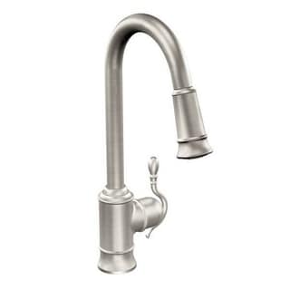 Moen Woodmere S7208SRS Spot Resist Stainless Steel Kitchen Faucet