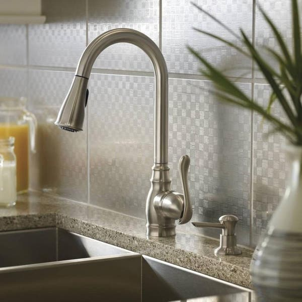 Moen Anabelle CA87003SRS Spot Resist Stainless Steel Kitchen Faucet
