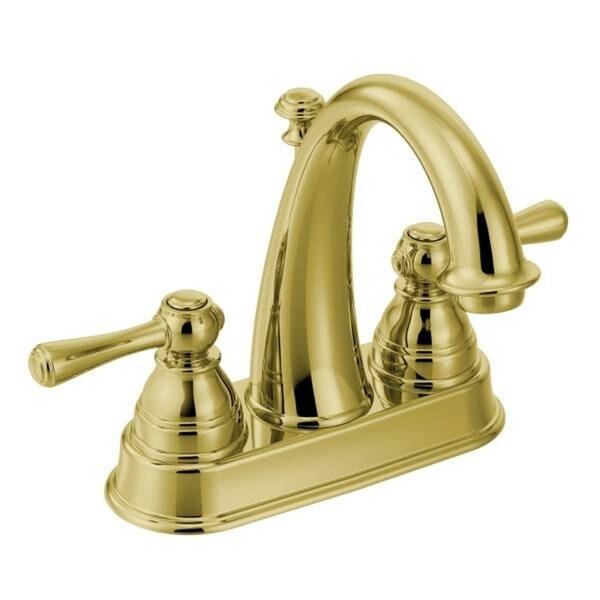 Moen Kingsley 6121P Polished Brass Bathroom Faucet