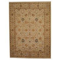 Herat Oriental Indo Hand-knotted Vegetable Dye Oushak Wool Rug (8'10 x 11'9) - 8'10 x 11'9