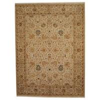 Handmade Herat Oriental Indo Vegetable Dye Oushak Wool Rug  - 8'10 x 11'9 (India)