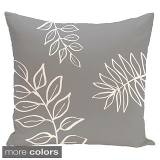 Simple Leaf Design 20-inch Decorative Pillow