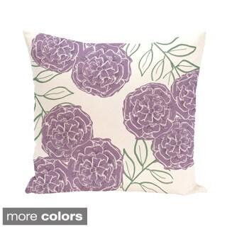 Floral Trio Design 20-inch Decorative Pillow