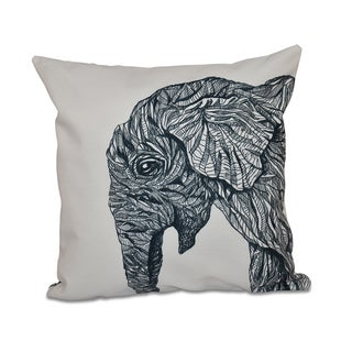 Elephant Design 16-inch Decorative Pillow