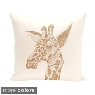 Giraffe Design 18-inch Decorative Pillow