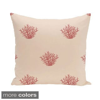 Ocean Coral Design 20-inch Decorative Pillow