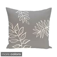 Simple Leaf Design 18-inch Decorative Pillow