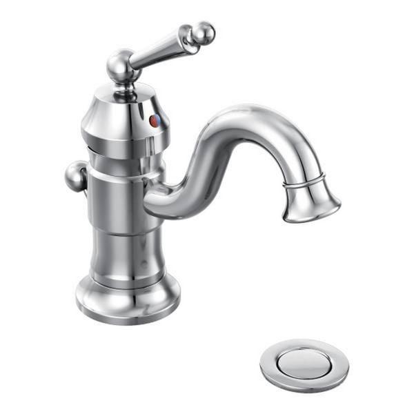 Moen Waterhill One-Handle Bathroom Faucet, Chrome (S411)