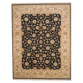 Herat Oriental Indo Hand-knotted Vegetable Dye Oushak Wool Rug (9' x 11'8)