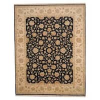 Herat Oriental Indo Hand-knotted Vegetable Dye Oushak Wool Rug - 9' x 11'8