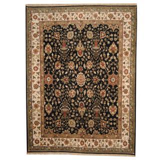Herat Oriental Indo Hand-knotted Vegetable Dye Ziegler Wool Rug (9' x 12')