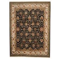 Herat Oriental Indo Hand-knotted Vegetable Dye Ziegler Wool Rug - 9' x 12'
