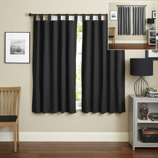 Blazing Needles 63-inch Twill Insulated Blackout Two-Tone Reversible Curtain Panel Pair - 52 x 63|https://ak1.ostkcdn.com/images/products/9815811/P16981093.jpg?impolicy=medium