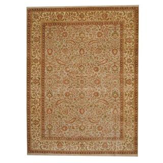 Herat Oriental Indo Hand-knotted Vegetable Dye Oushak Wool Rug (9' x 12')