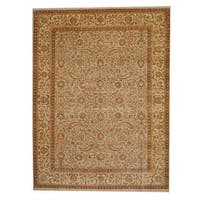 Handmade Herat Oriental Indo Vegetable Dye Oushak Wool Rug  - 9' x 12' (India)