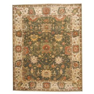 Herat Oriental Indo Hand-knotted Vegetable Dye Oushak Wool Rug (9'3 x 11'9)