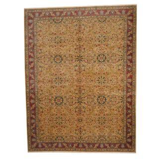 Herat Oriental Afghan Hand-knotted Vegetable Dye Ziegler Wool Rug (9'3 x 12')