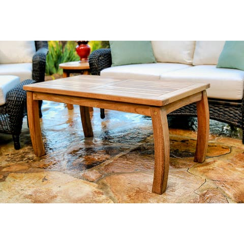 Tortuga Outdoor Teak Rectangle Coffee Table