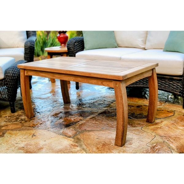 Shop Tortuga Outdoor Teak Rectangle Coffee Table - On Sale ...