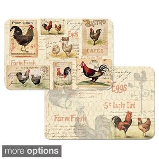 Rooster Farm Reversible Decofoam Placemats - Set of 4
