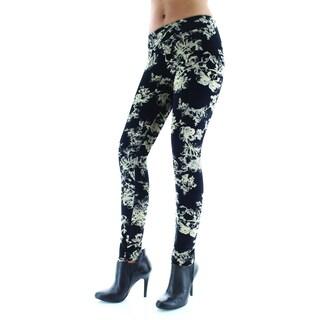 MeMoi Stylish Velvet Floral Leggings