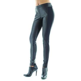 MeMoi Stylish Black Cobblestone Leggings