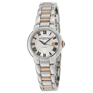Raymond Weil Women's 'Jasmine' Stainless Steel and Rose Goldplated PVD Coated Swiss Mechanical Autom
