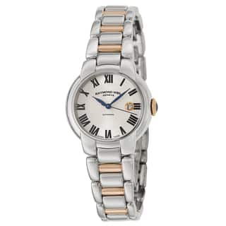Raymond Weil Women's 'Jasmine' Stainless Steel and Rose Goldplated PVD Coated Swiss Mechanical Autom|https://ak1.ostkcdn.com/images/products/9815938/P16981290.jpg?impolicy=medium