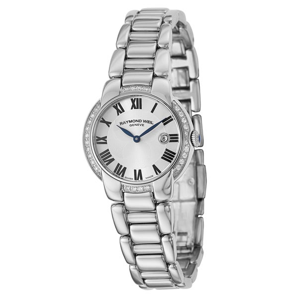Shop Raymond Weil Geneve Women s  Jasmine  Stainless Steel Swiss Quartz  Watch - Free Shipping Today - Overstock - 9815971 e62722c096