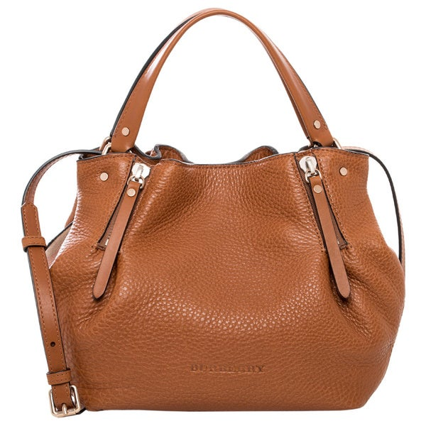 Burberry 'Maidstone' Small Brown Leather and Canvas Tote - Free ...