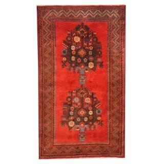 Herat Oriental Afghan Hand-knotted Tribal Balouchi Wool Rug (3' x 5'1)
