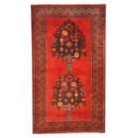 Herat Oriental Afghan Hand-knotted Tribal Balouchi Wool Rug (3' x 5'1) - 3' x 5'1