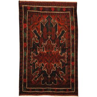 Handmade One-of-a-Kind Balouchi Wool Rug (Afghanistan) - 2'9 x 4'6