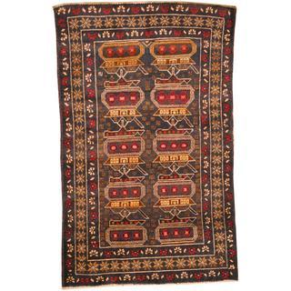 Herat Oriental Afghan Hand-knotted Tribal Wool War Rug (2'8 x 4'4) - 2'8 x 4'4