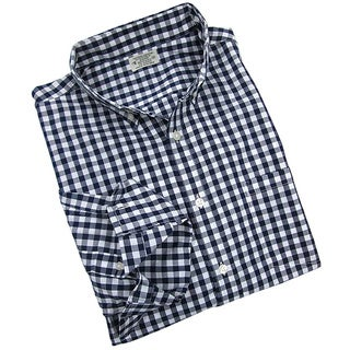 Reed Edward Men's Navy Gingham Plaid Button-down Shirt