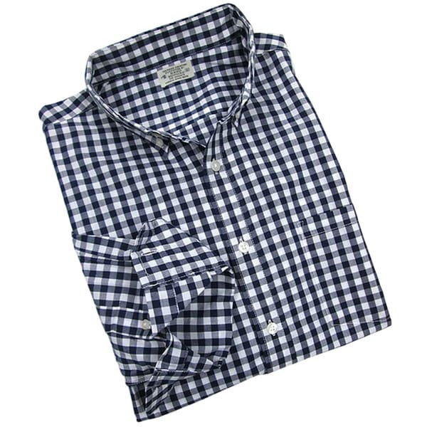 Reed Edward Men's Navy Gingham Plaid Button-down Shirt ...