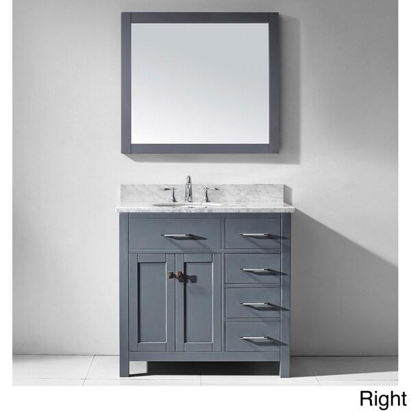 Virtu USA Caroline Parkway 36-inch Grey Single Bathroom Vanity ...