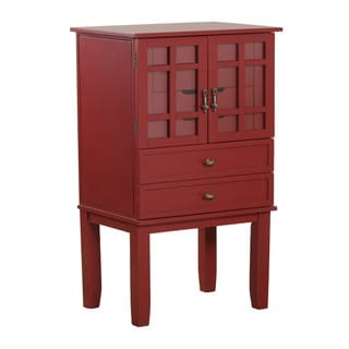 Powell Monroe Red Jewelry Armoire