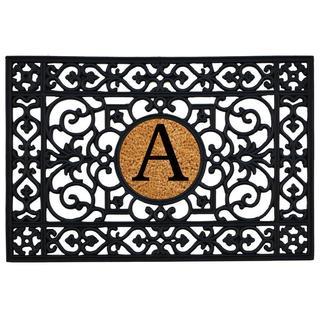 Momentum Mats Black Coir/Rubber Monogrammed Insert Doormat (2' x 3')