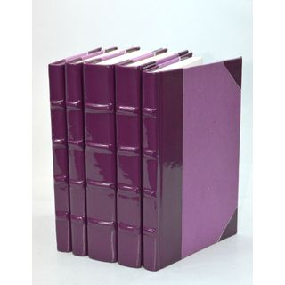 Patent Leather Books - Plum S/5