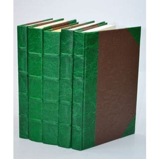 Leather Paper Books - Green S/5