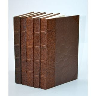 Leather Paper Books - Chocolate S/5