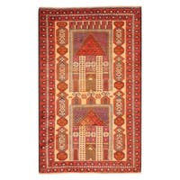 Herat Oriental Afghan Hand-knotted Tribal Balouchi Wool Rug - 2'9 x 4'4