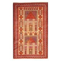 Handmade Herat Oriental Afghan Tribal Balouchi Wool Rug (Afghanistan) - 2'9 x 4'4