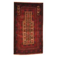 Herat Oriental Afghan Hand-knotted Tribal Balouchi Wool Rug (2'10 x 5') - 2'10 x 5'