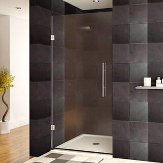 LessCare 24-36 x 72-inch Frameless Clear Glass Chrome Finish Shower Door