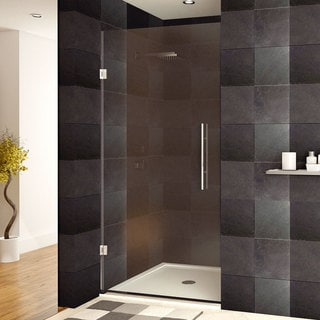lesscare x 72inch frameless clear glass chrome finish shower door