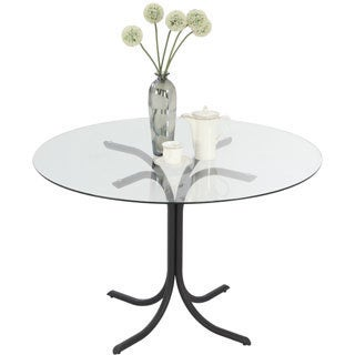 Somette Cayla X-shape Black Dining Table