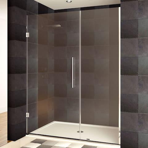 LessCare 42-60 x 72-inch Frameless Clear Glass Chrome Finish Shower Doors